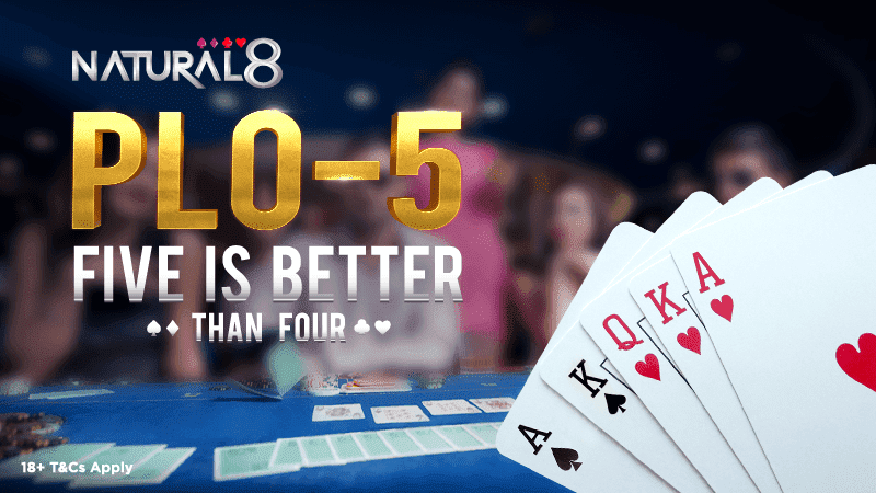 Natural8 Fünf-Karten-Pot-Limit Omaha PLO-5